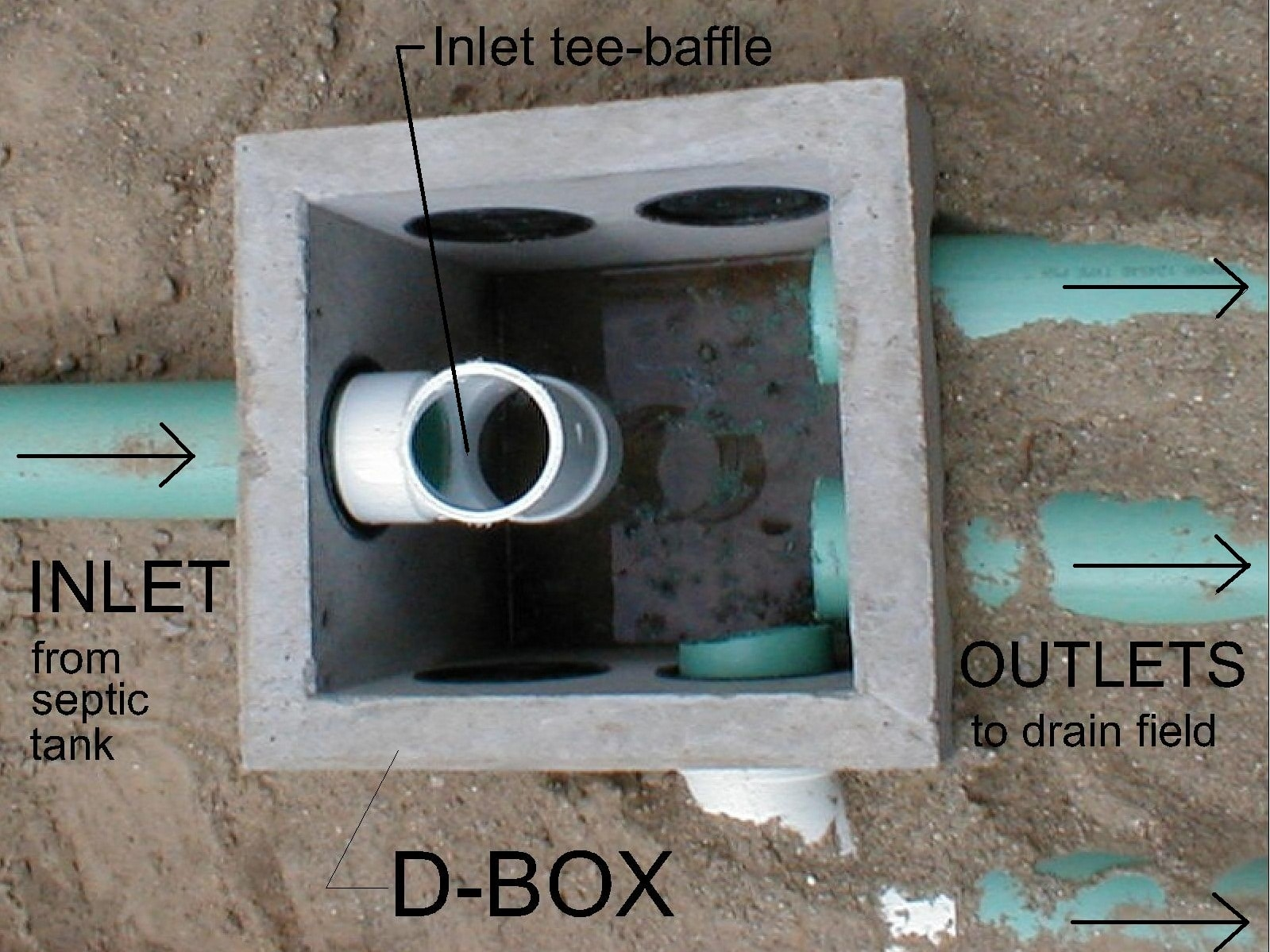What role a septic tank baffle plays in drain field lines.
